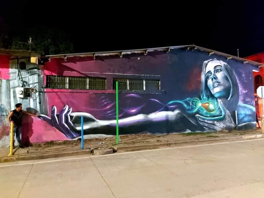 Hondureños crean un mural en Juticalpa en homenaje a líderes religiosos