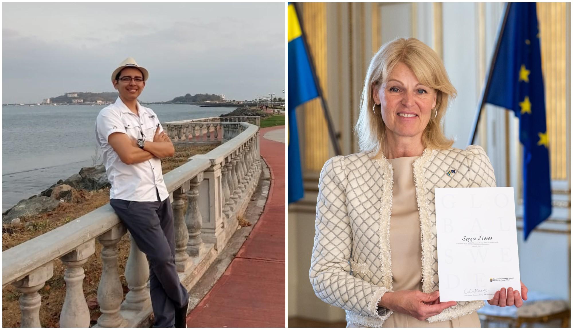 Hondureño recibe premio en Suecia por excelencia académica