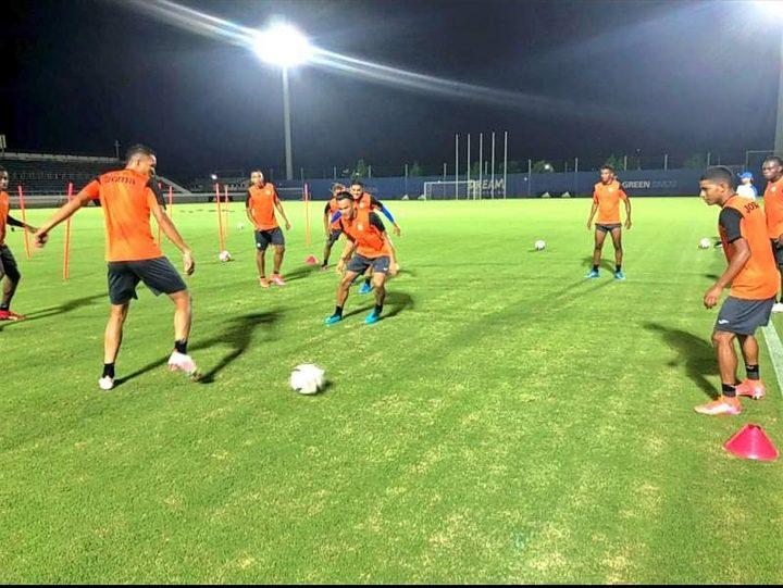 Entrenamiento de la Sub-23 de Honduras en Yokohama para el partido contra Corea del Sur