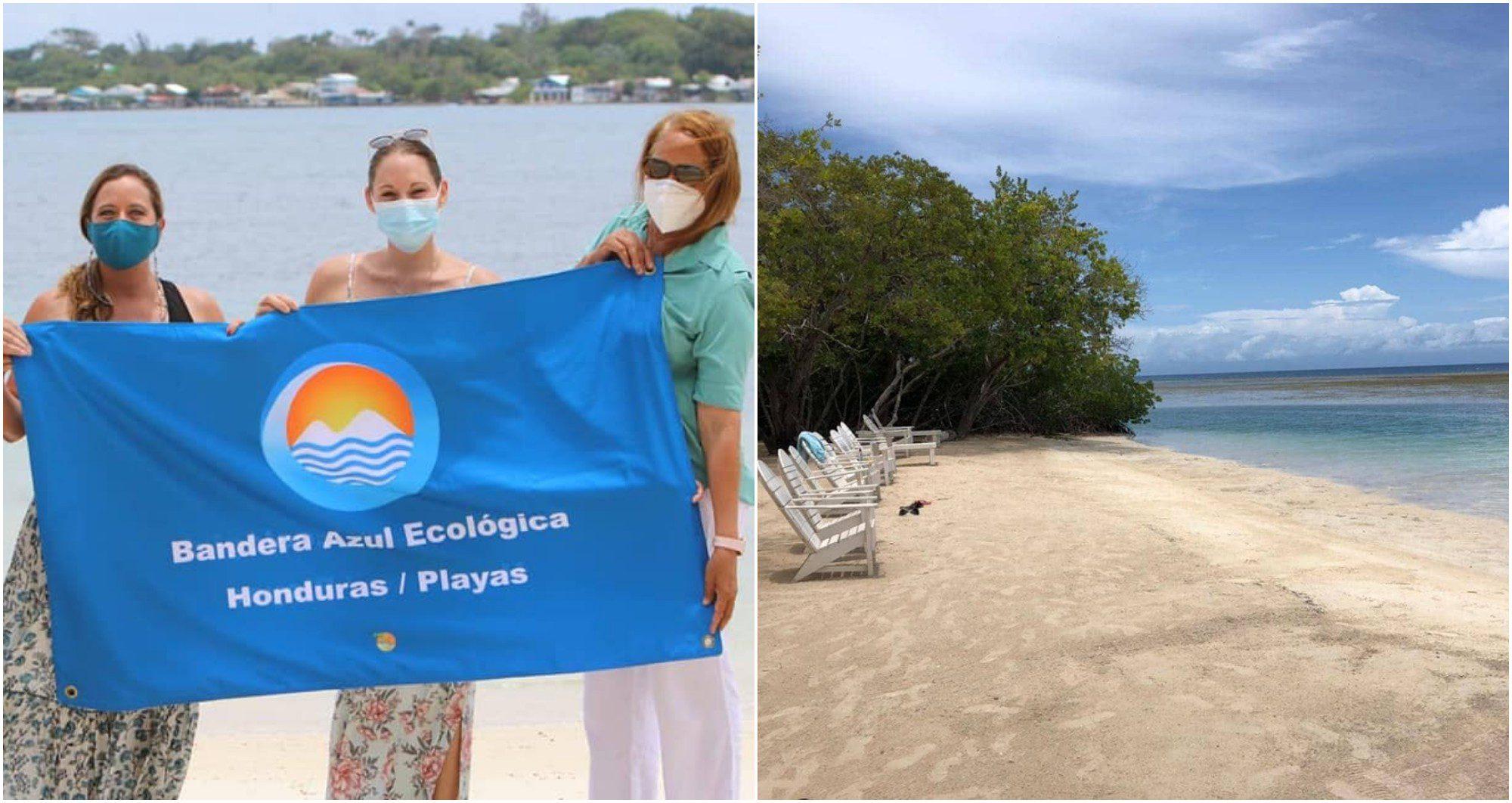 La playa de Útila ya tiene su segunda Bandera Azul Ecológica