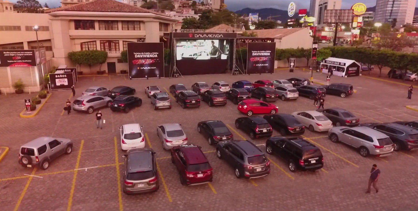 Inauguran el Autocinema Davivienda en San Pedro Sula