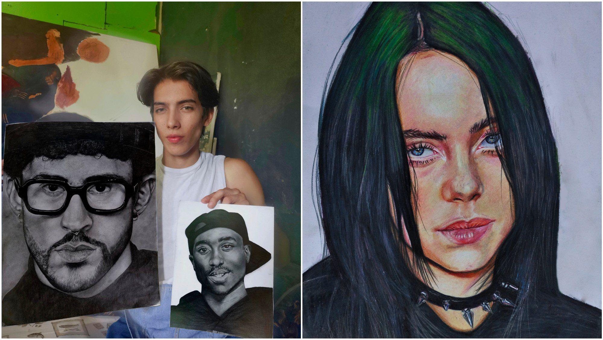 Hondureño Krisstoopher Sagastume destaca con sus pinturas