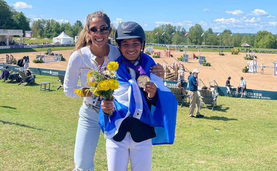 Lenir Pérez Facussé consigue plata en campeonato de salto juvenil