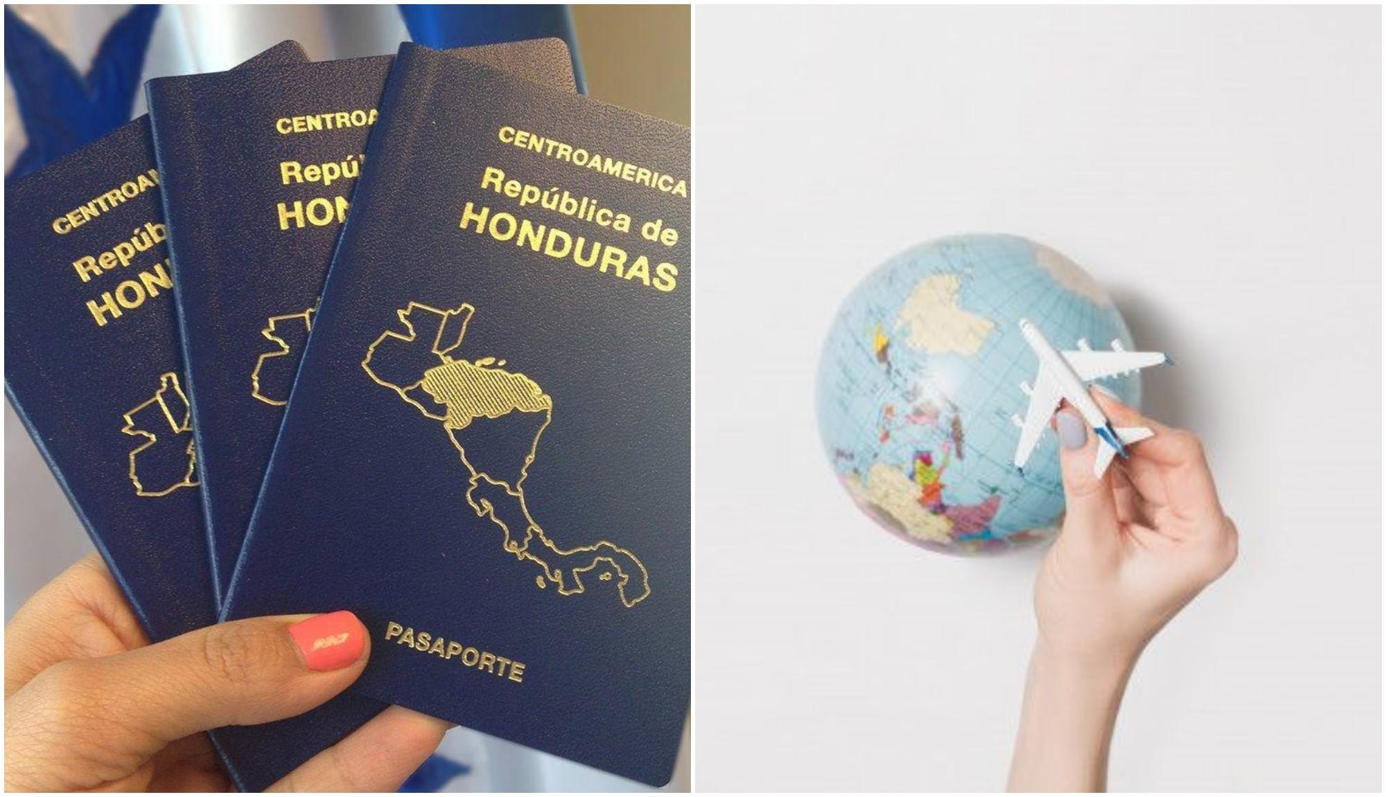 Países a donde puedes viajar solo con el pasaporte hondureño