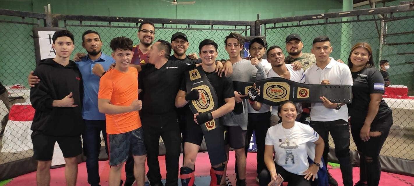 Luchadores hondureños se coronan campeones en las artes marciales mixtas