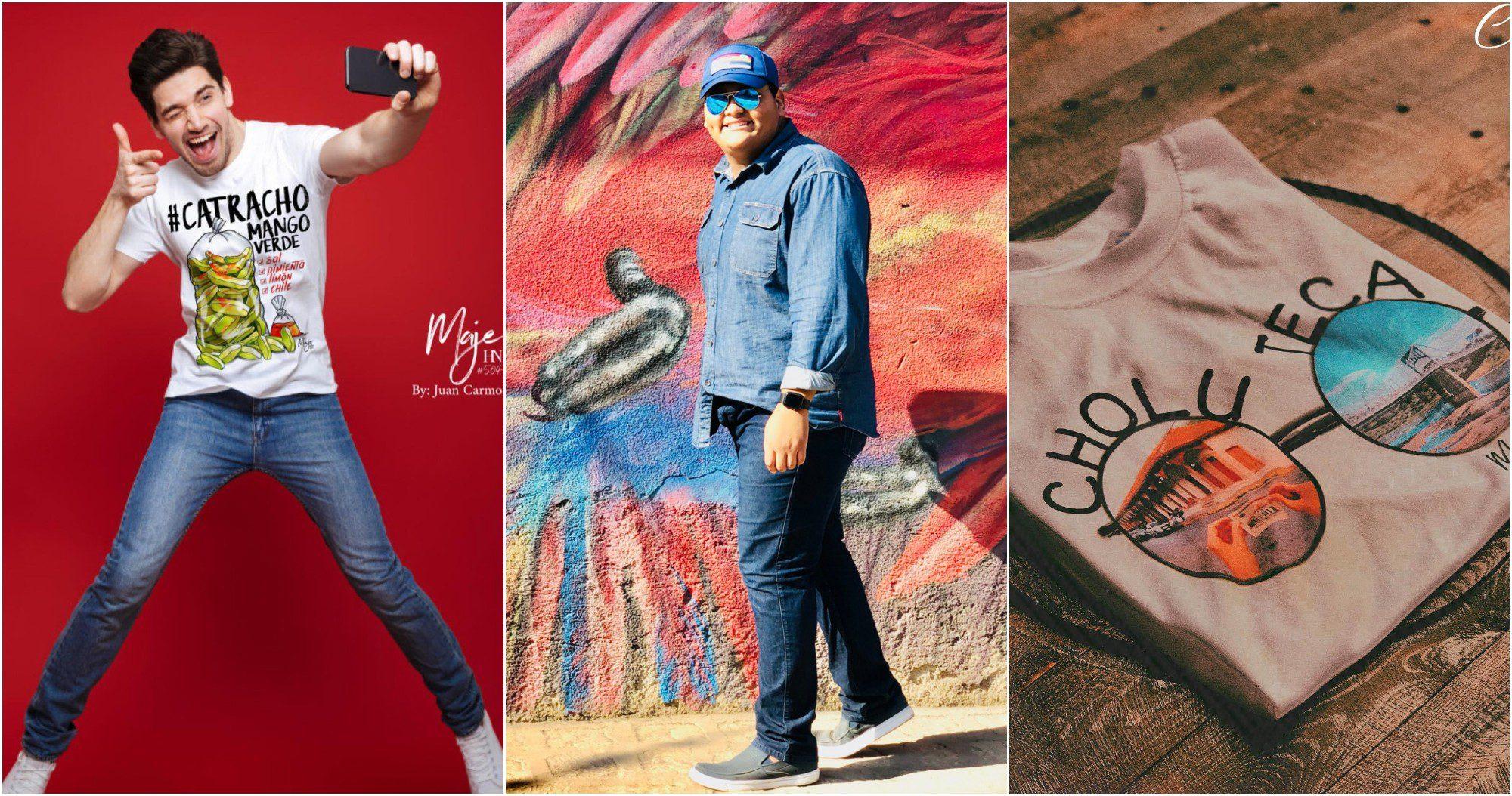 Hondureño emprende con camisetas que destacan el orgullo catracho