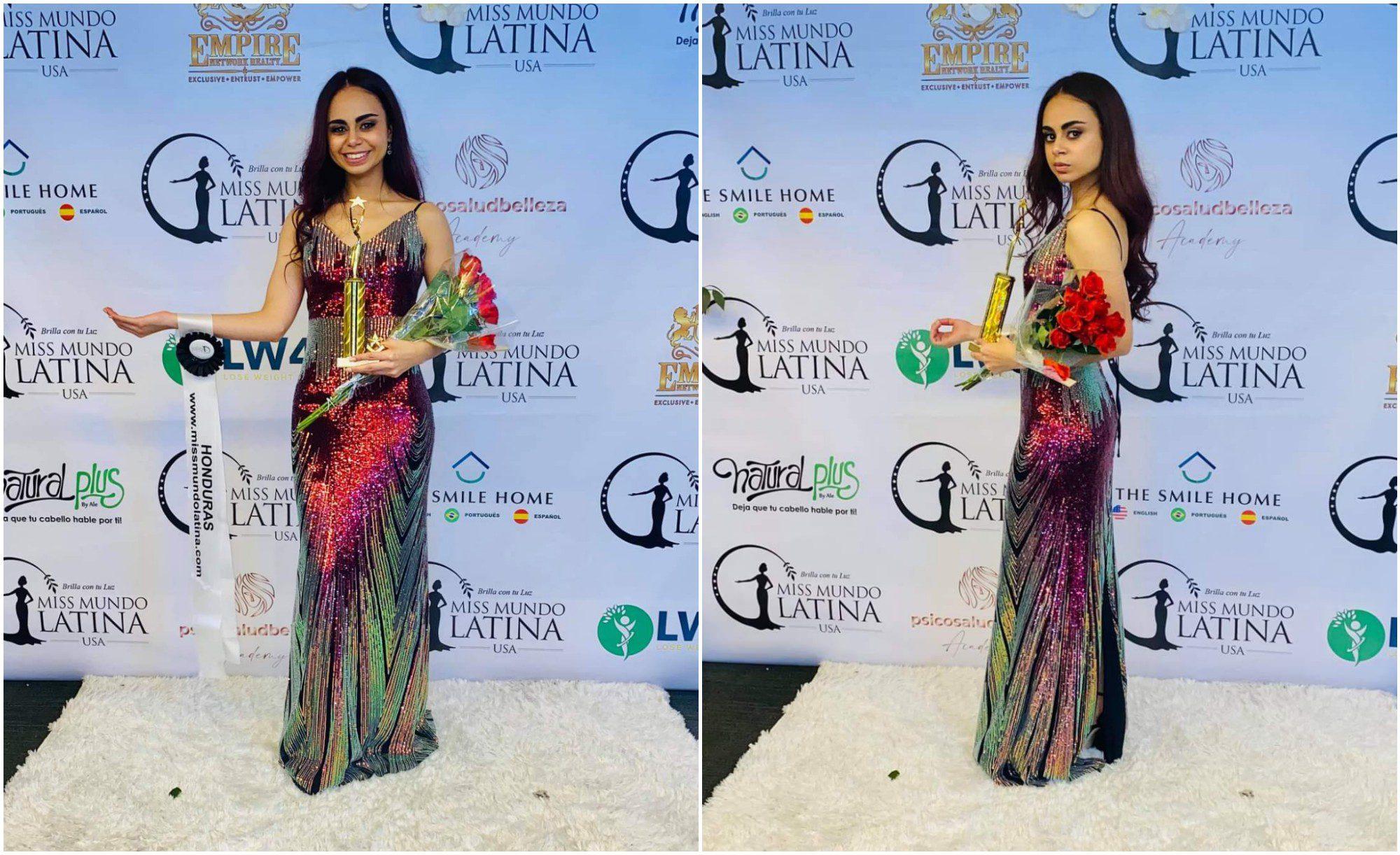 Hondureña Lizbeth Panchame gana tercer lugar en Miss Mundo Latina