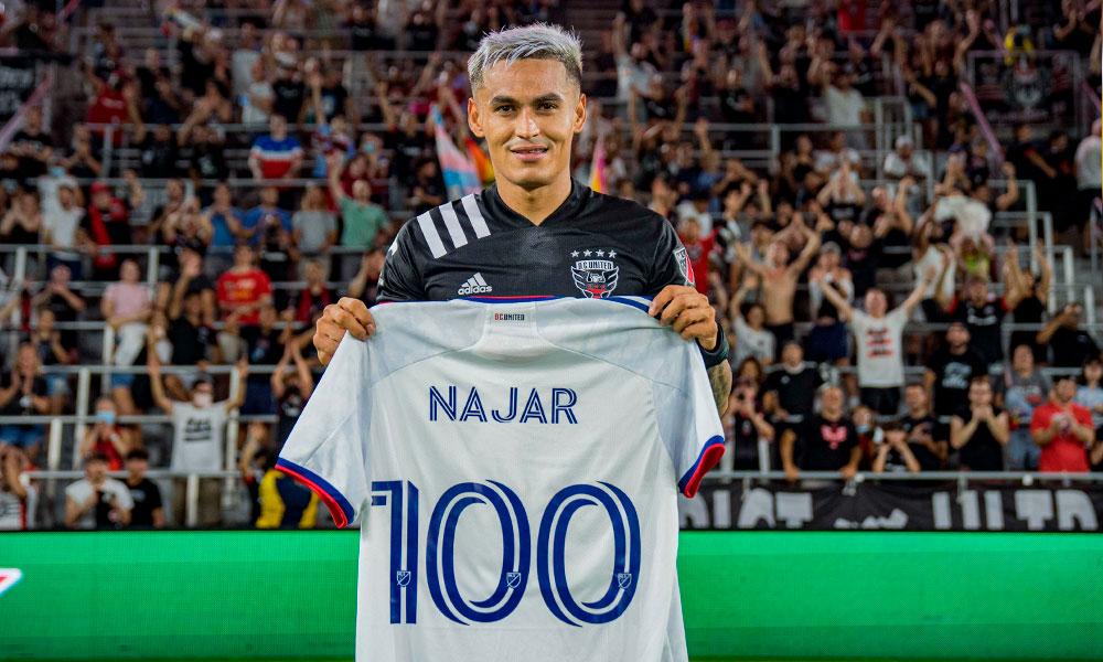 Andy Najar alcanza los 100 partidos con el DC United de la MLS