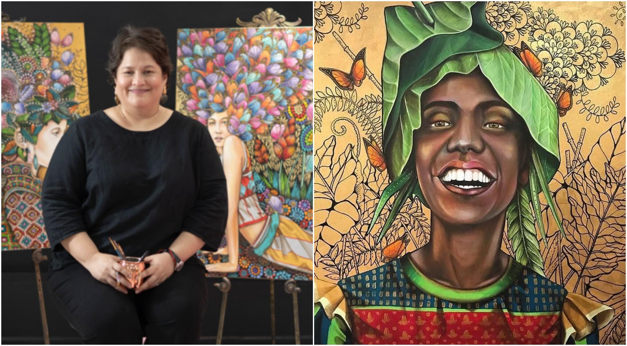 Hondureña Leticia Banegas destaca internacionalmente con su arte