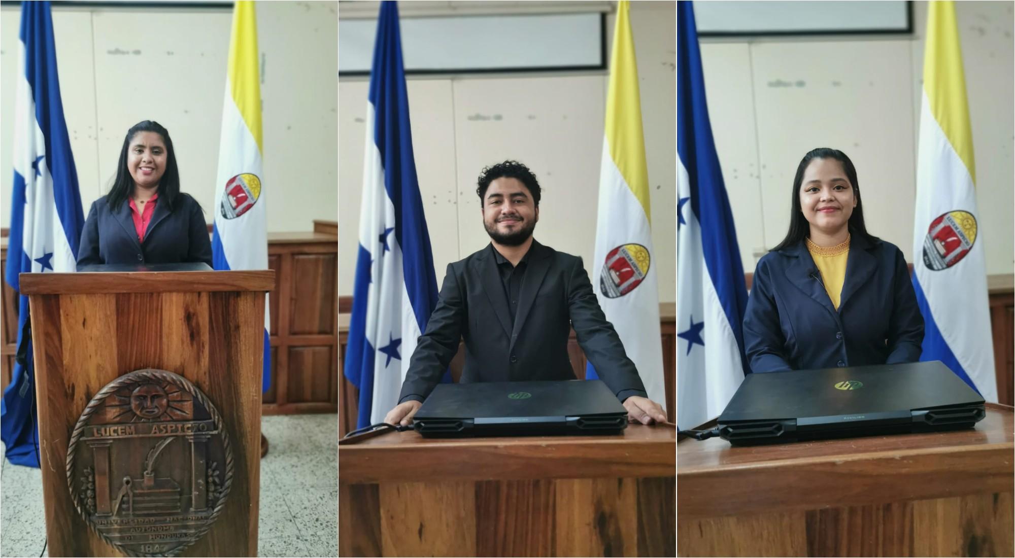 Estudiantes de UNAH-VS destacaron en congreso internacional