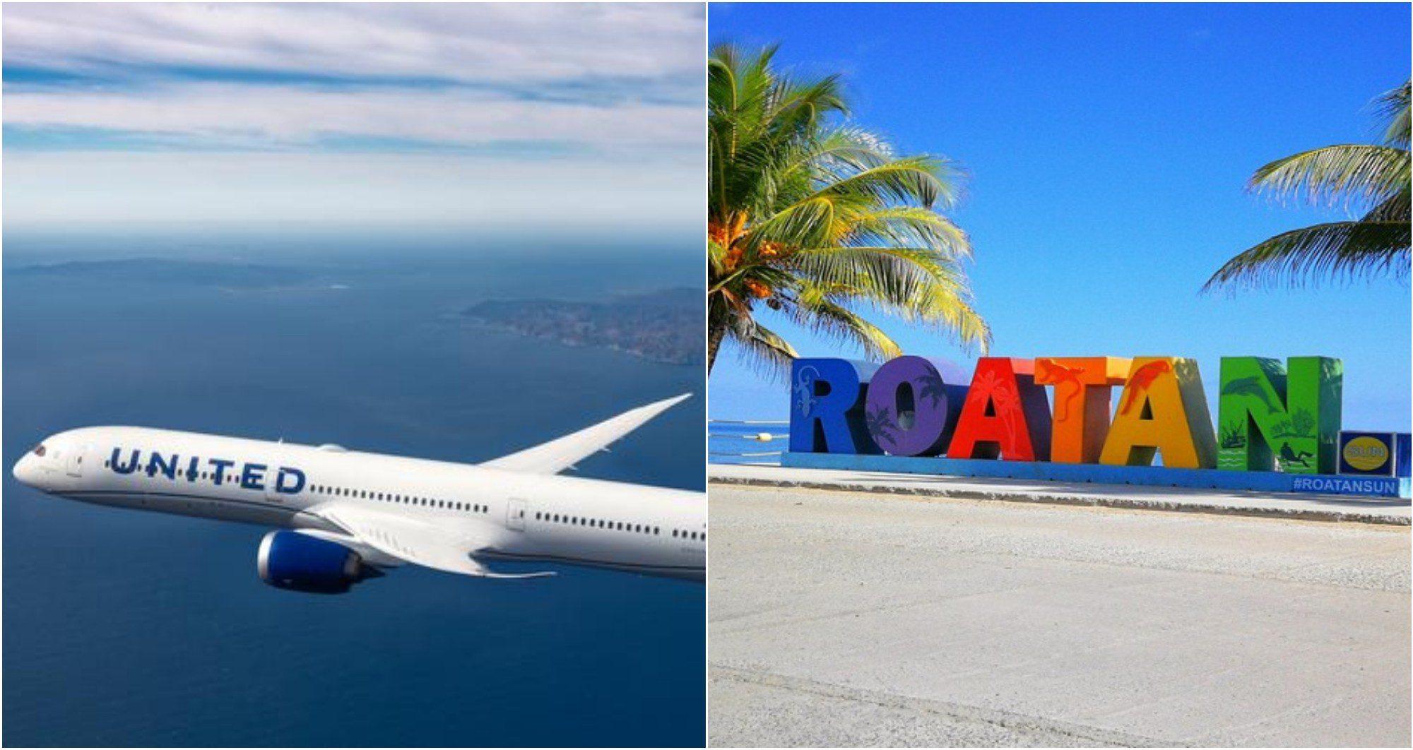 A partir de diciembre United contará con vuelos a Roatán desde Denver