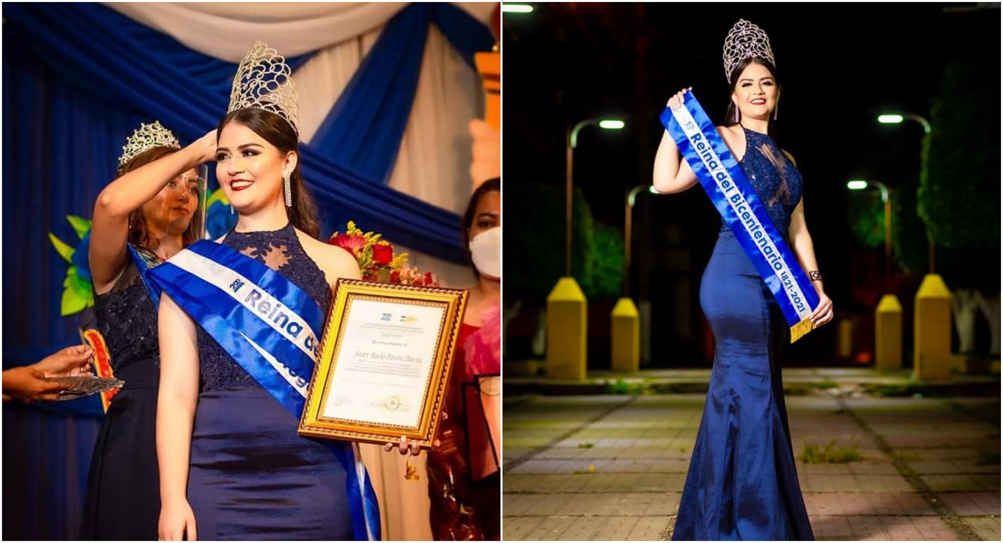 Jeimy Pavón es la Reina del Bicentenario de Honduras