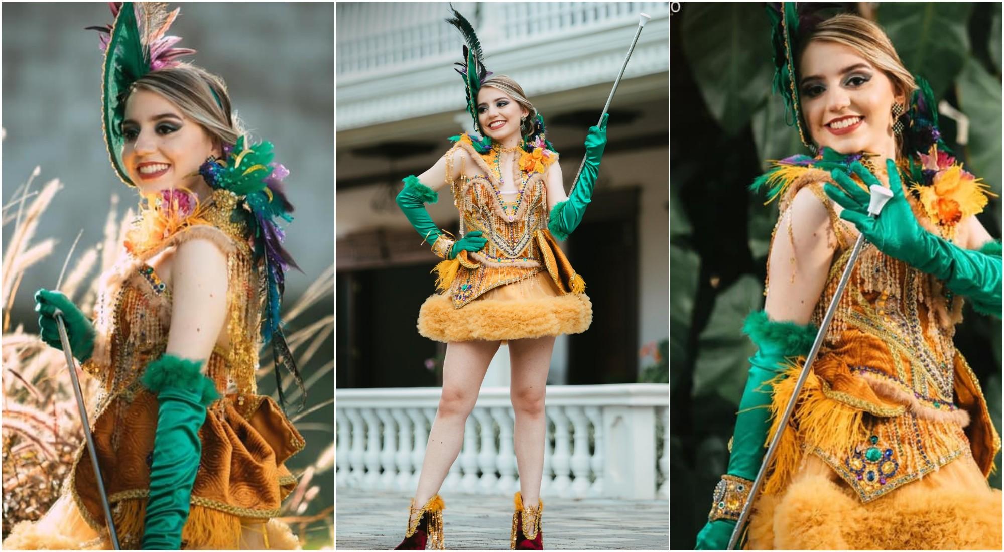 Palillona luce un hermoso traje inspirado en el colibrí esmeralda