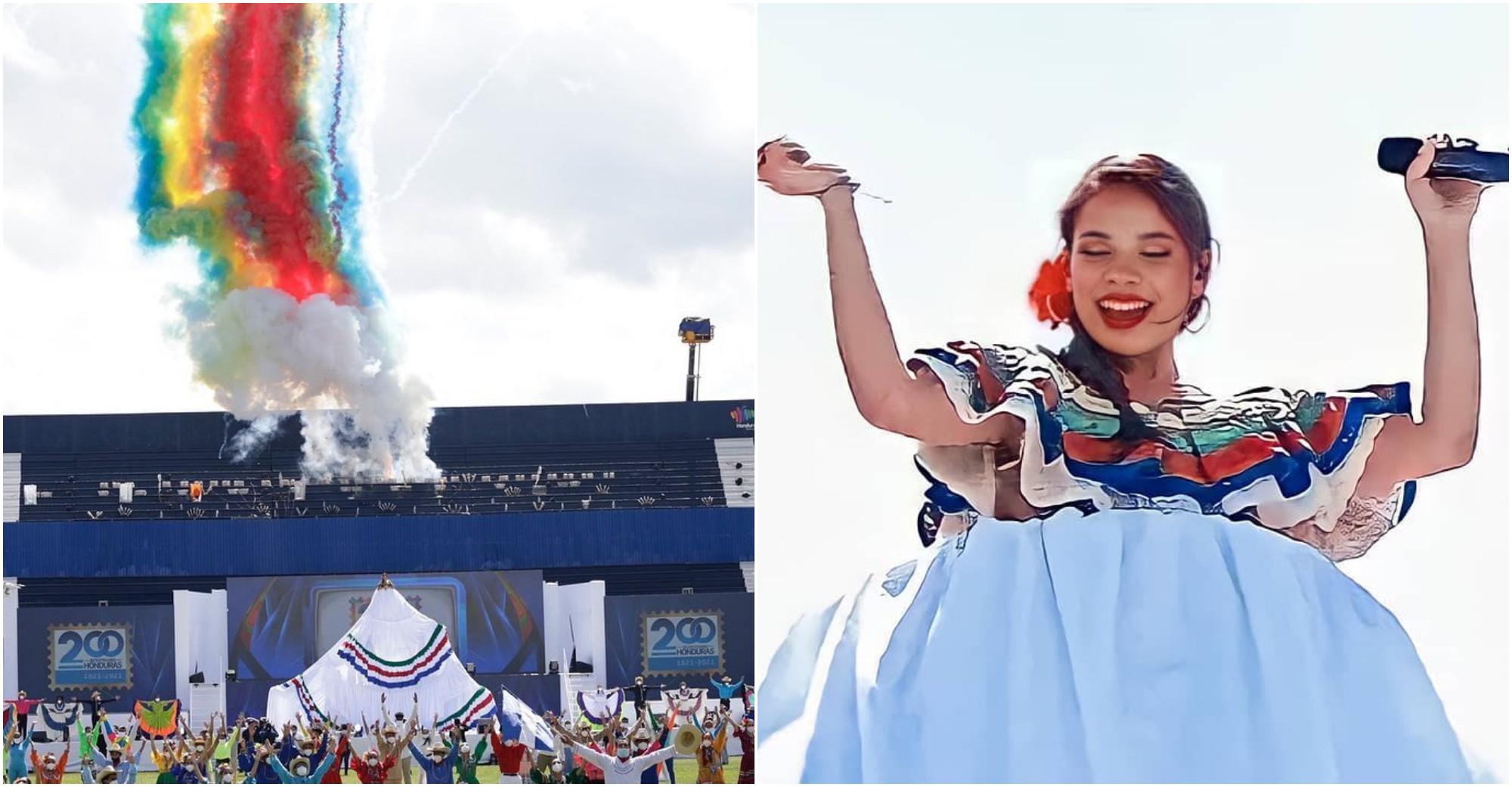 Angie Flores destacó en el Bicentenario con canciones folclóricas