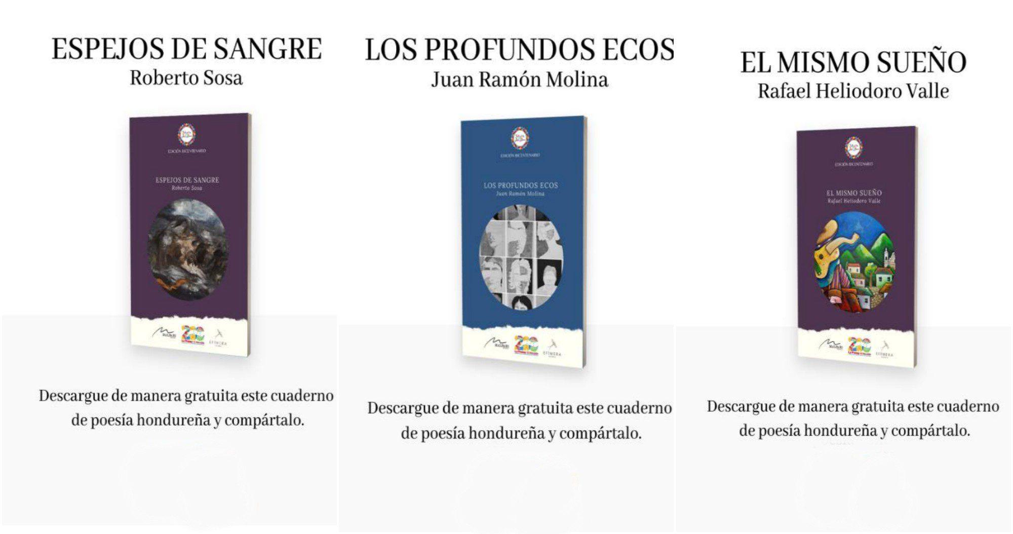 Crean 13 cuadernos digitales de poetas hondureños para descargar
