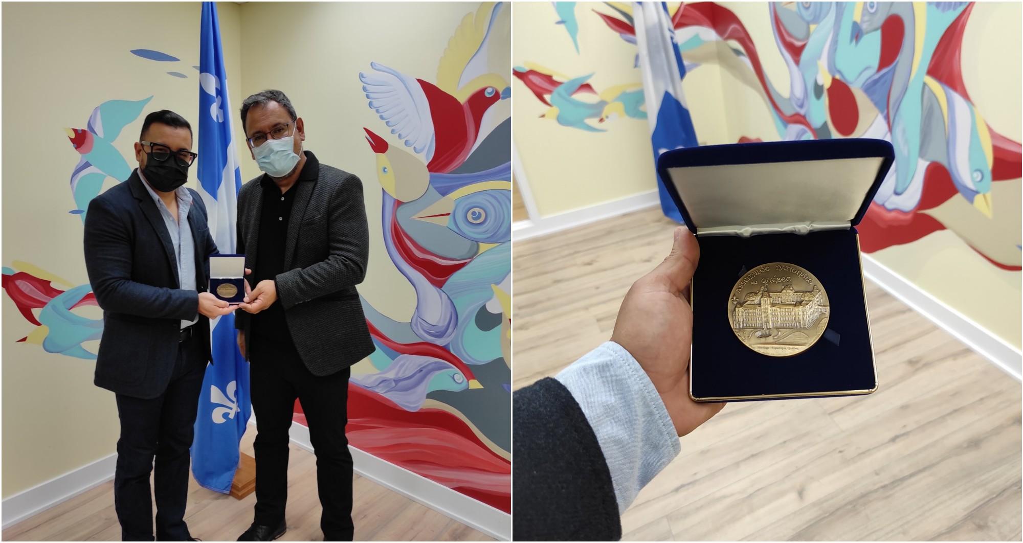 Hondureño recibe reconocimiento de la Asamblea Nacional de Quebec