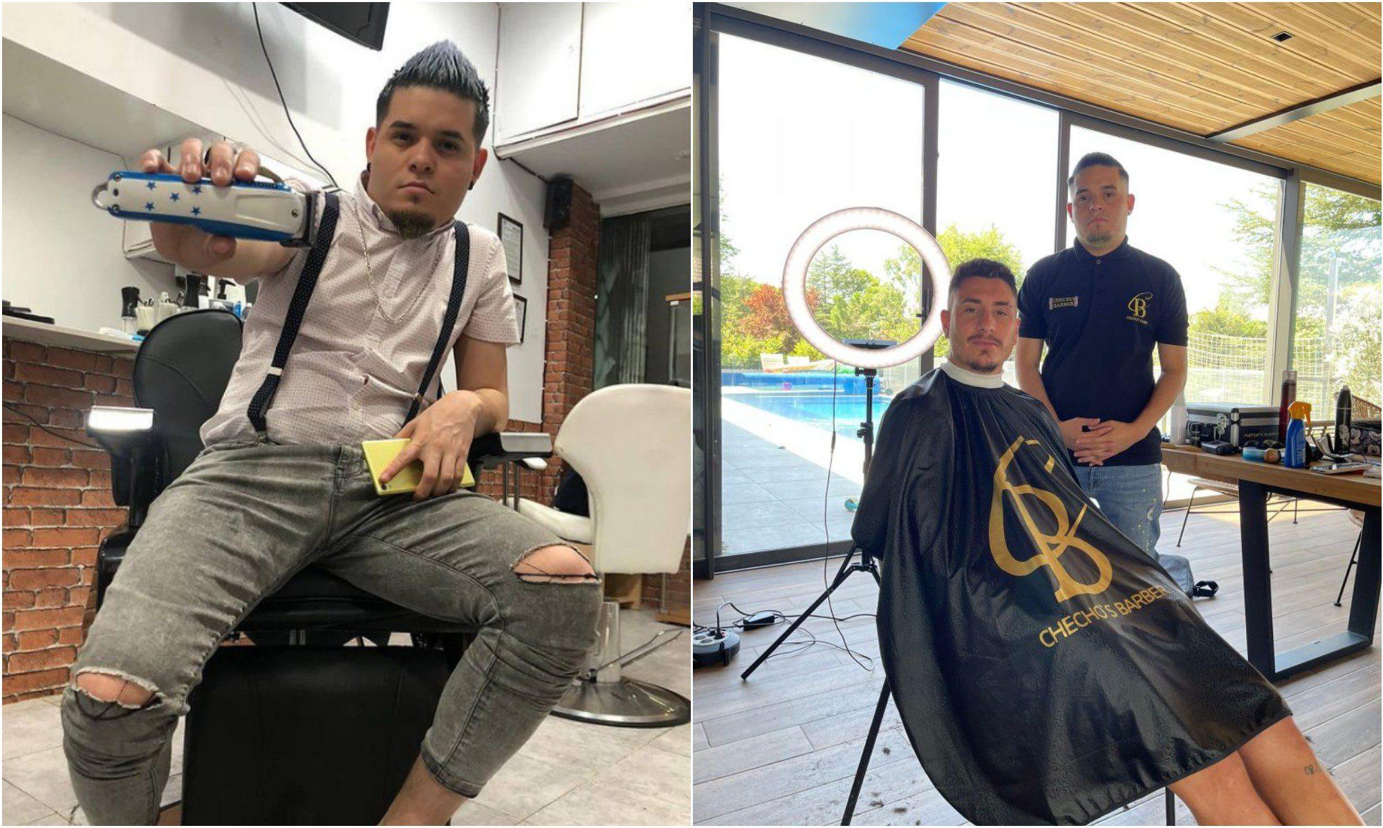 Hondureño Edson Rubio, es el barbero de grandes futbolistas