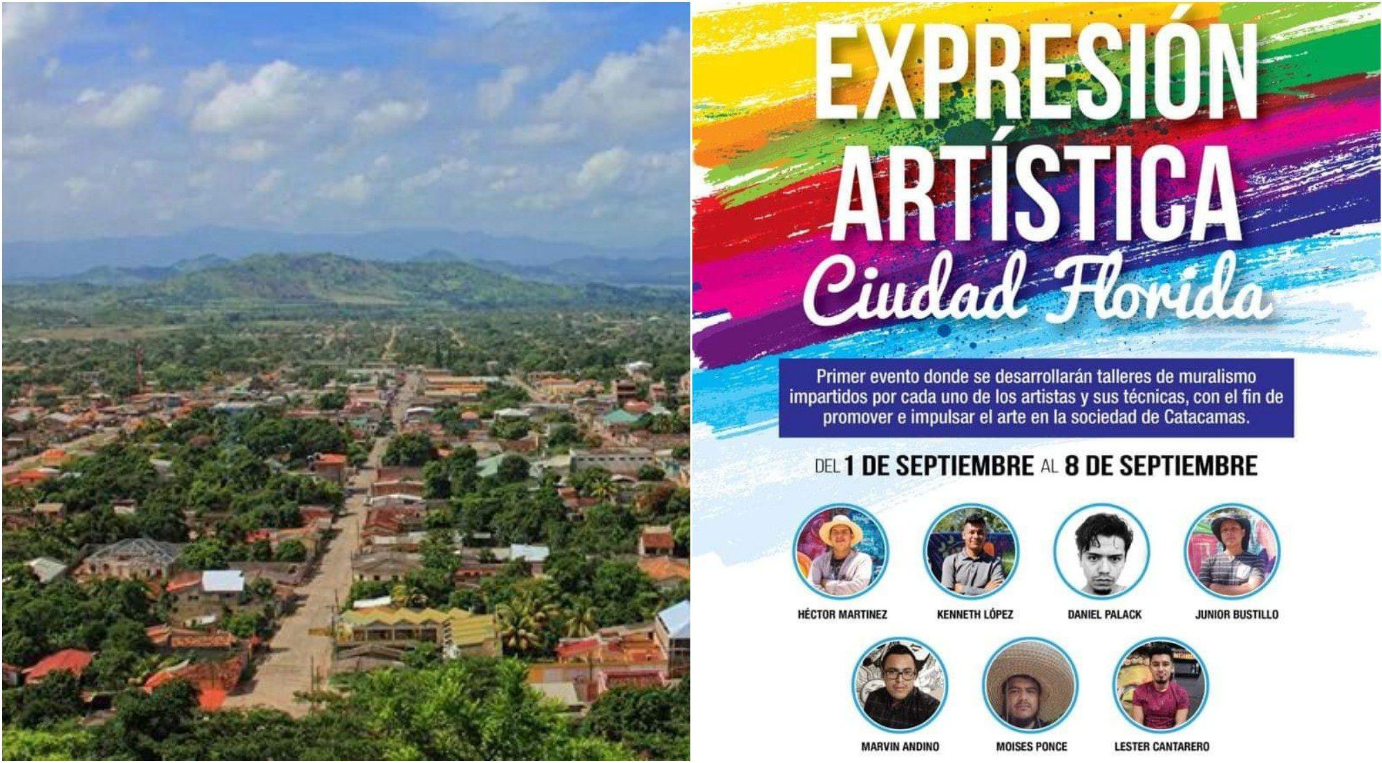"""""""Expresión Artística Ciudad Florida"""",  encuentro muralista en Honduras"""