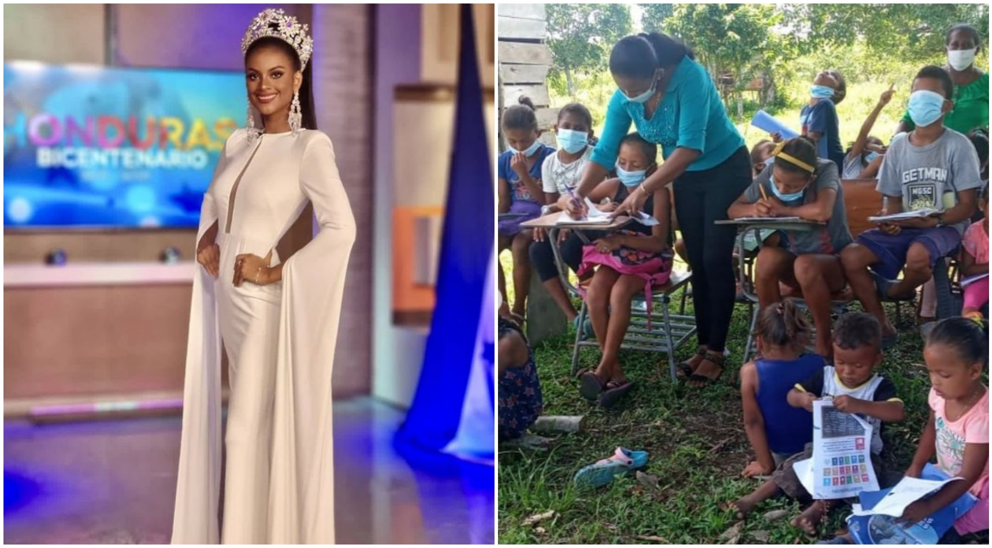Miss Honduras Mundo busca construir aulas en La Mosquitia
