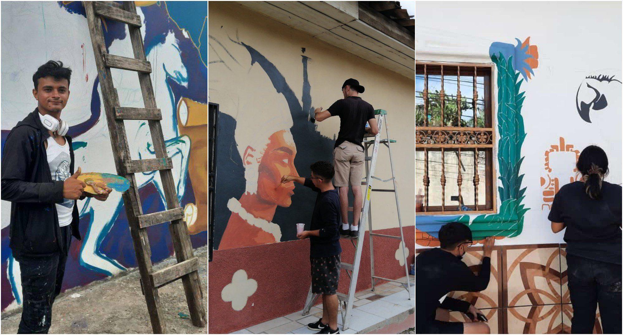 Talanga se llena de arte con el primer encuentro muralista