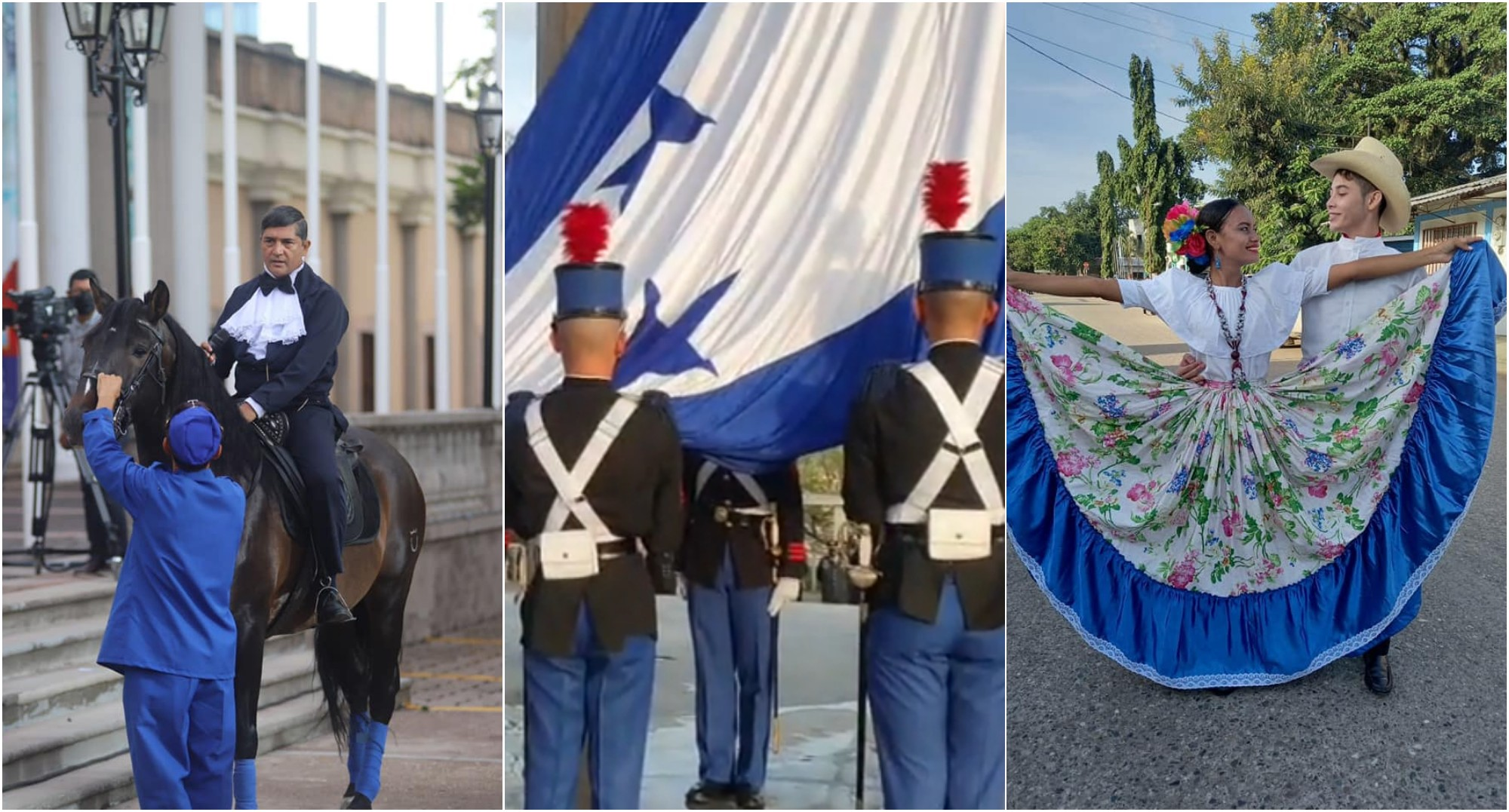 Fiestas patrias en Honduras dan inicio con izada de la Bandera Nacional