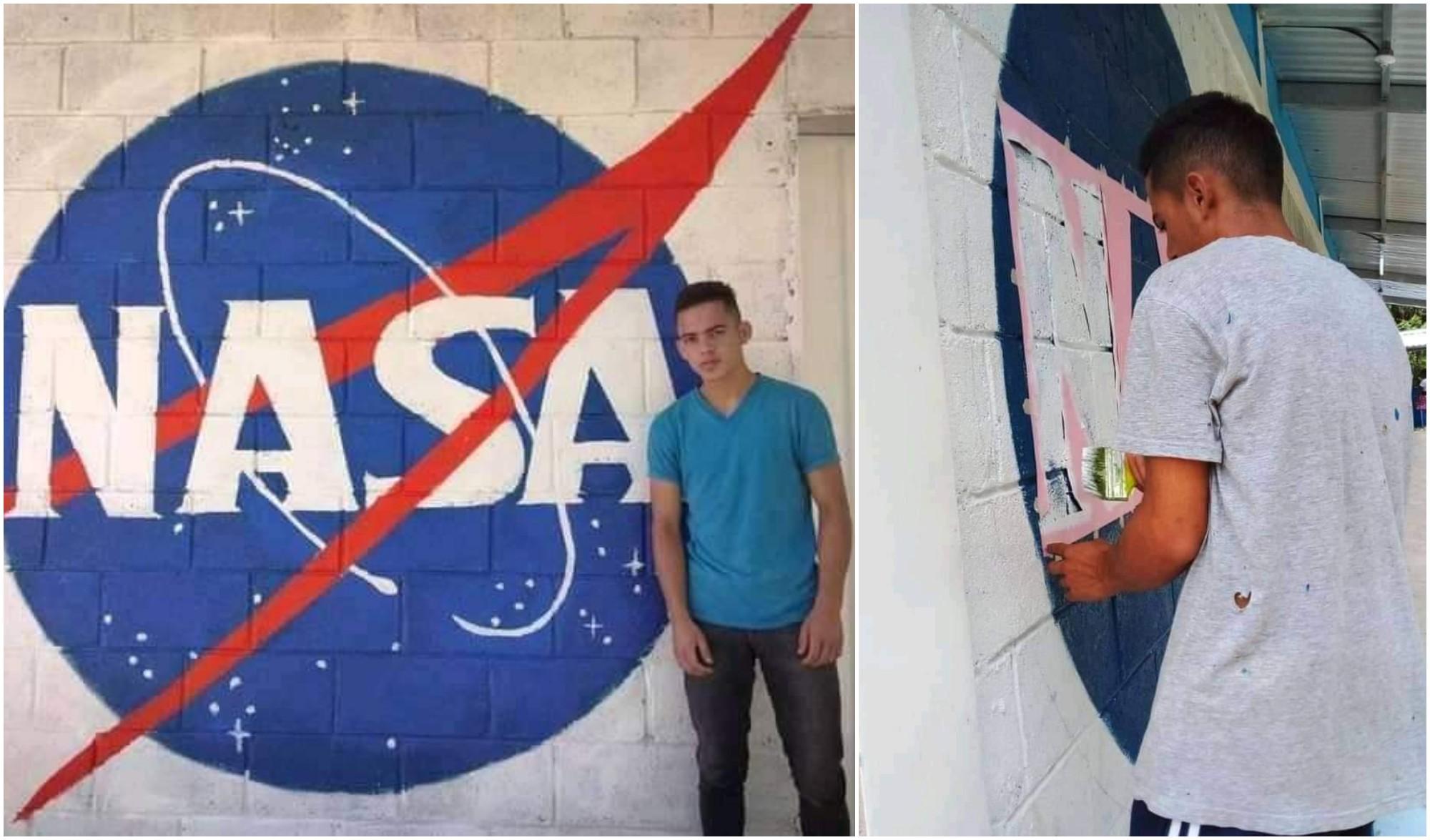 Hondureño creó un mural de la NASA y tuvo respuesta de la agencia