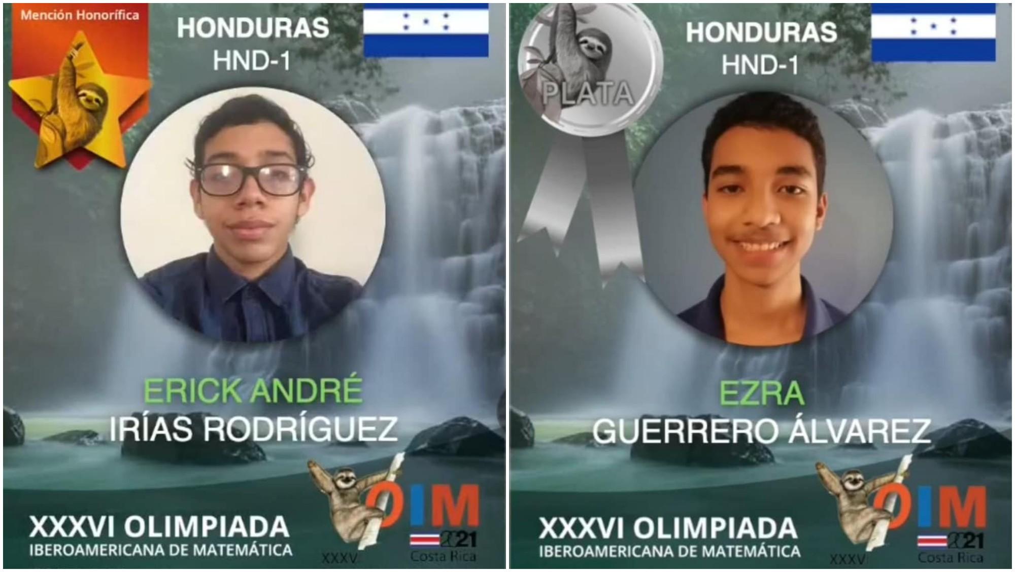 Hondureños destacan en la Olimpiada Iberoamericana de Matemáticas