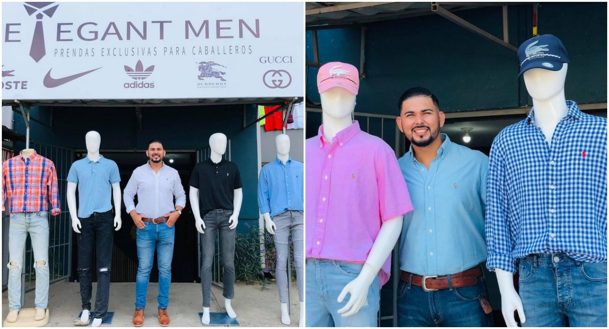 Hondureño cumple su sueño de abrir una tienda de ropa