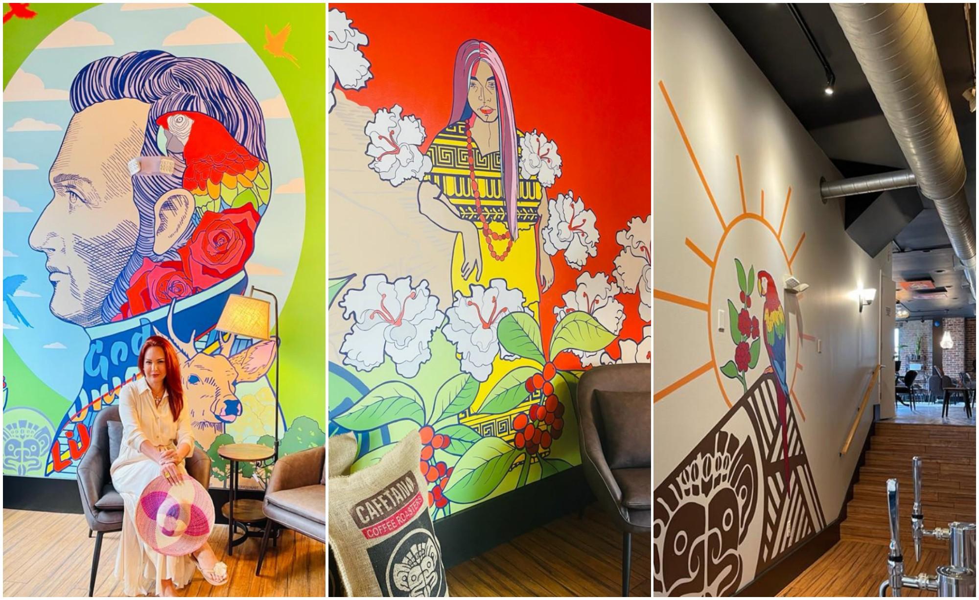 Hondureña destaca la cultura de Honduras en cafetería estadounidense