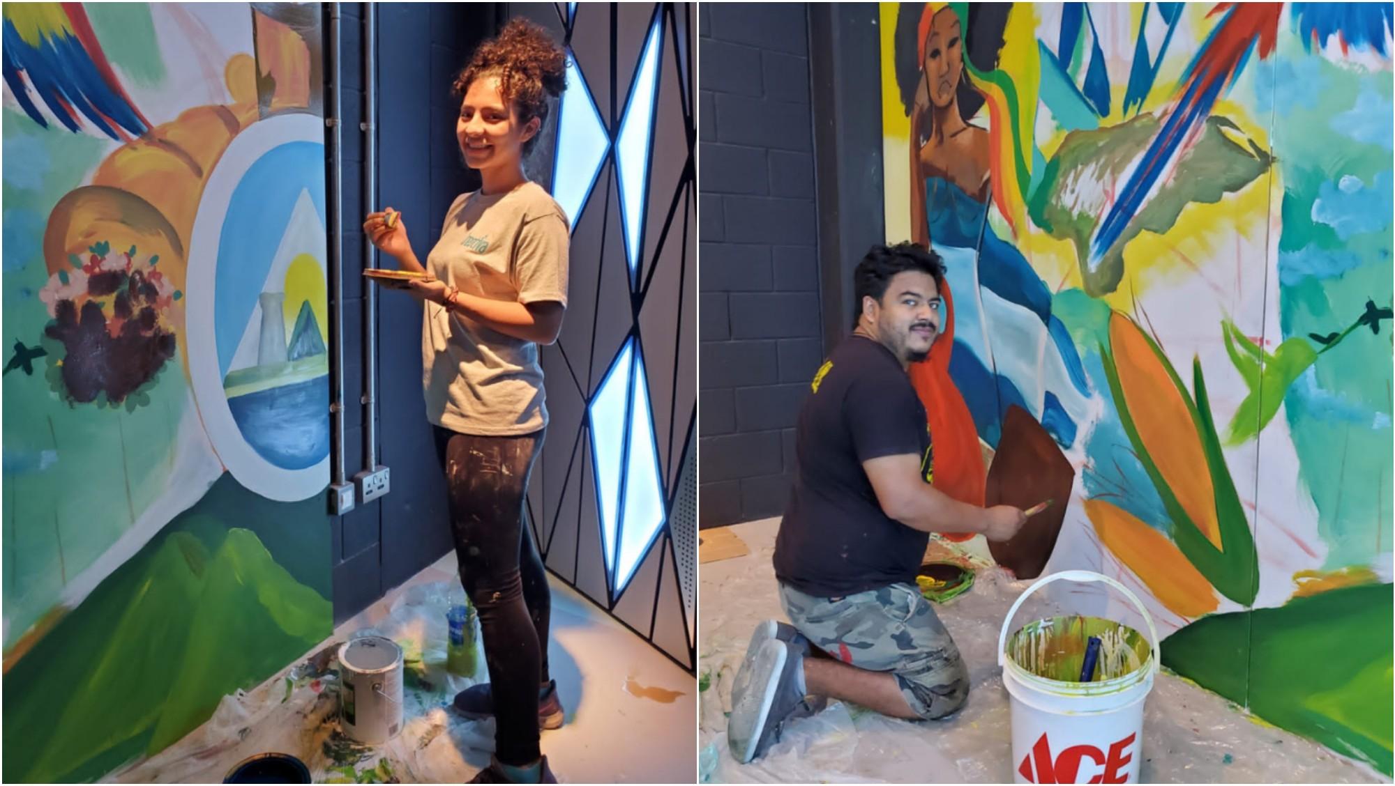 Artistas hondureños plasman su arte en la Expo Dubái 2020