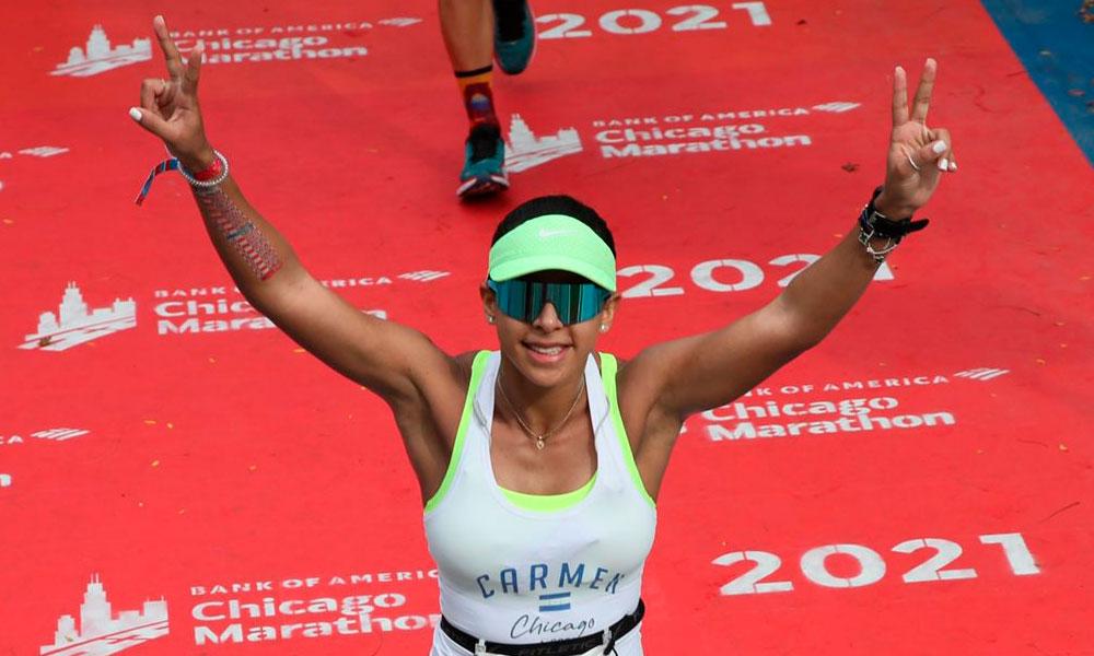 Destacada participación de atletas hondureños en el Maratón de Chicago